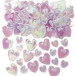 Embossed Loving Heart Iridescent Confetti