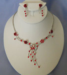 Butterfly & Rose Necklace Set - Colors!
