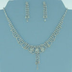 Crystal Collar Rhinestone Necklace Set
