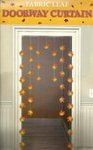 Fabric Leaf Doorway Curtain