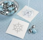 Winter Snowflake Paper Coasters - Pkg 100