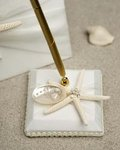 Starfish & Shell Beach Wedding Pen Set