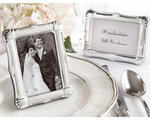 Shining Moments Silver Scalloped Picture Frame Place Card Holder