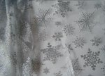 15 x 72 Table Runner / Chair Bow Glitter Snowflake Organza - Colors!