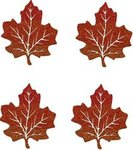 Small Glittered Maple Leaf - Pkg 4