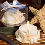 Starfish Design Favor Saver Candle - Natural