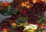 Fall Leaves Multi Color Metallic Textured Confetti