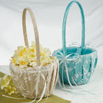 Timeless Lace Flower Basket - 2 Colors!