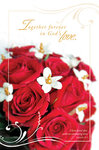 Red Rose Bouquet Blank Wedding Programs - Pkg 100