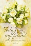 Marry My Friend Roses Blank Wedding Programs - Pkg 100