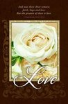 Love Brown & Ivory Rose Blank Wedding Programs - Pkg 100