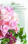 Pink Roses Blank Wedding Programs - Pkg 100
