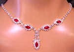 Marquis Rhinestone Necklace & Earrings Set - 3 Colors!