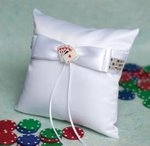 Taking a Gamble Wedding Ring Bearer Pillow