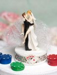 Taking a Gamble Wedding Cake Topper