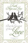 Love Birds Blank Wedding Programs - Pkg 100