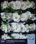 20 White Rose Swag Decorations - Pkg 4