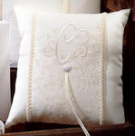 Brocade Monogram Collection Ring Pillow