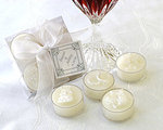 Classic White Wedding Pearlized Tealight Candle (Set of 4)