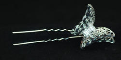 3-D Filigree Butterfly Hair Pin