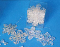 3.5 Crystal Clear Snowflake Ornaments - Pkg 8