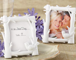 White Woods Forest-Themed High-Gloss-Finish Photo Frame