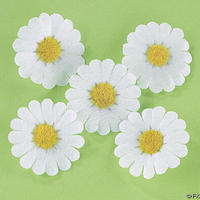 250 Daisy Fabric Flower Tops - 3 Colors!