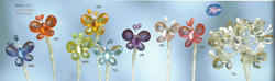 1 Acrylic Butterflies on Wire Stem - Colors!