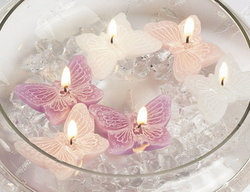Butterfly Floating Candles - Pkg 12