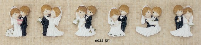 3 Inch Wedding Couple Magnet Favor