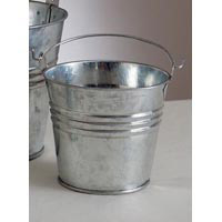 2.75 Galvanized Metal Pail with Handle