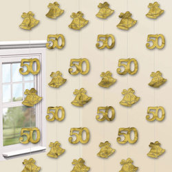 25th or 50th Anniversary String Decorations
