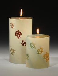 6 Falling Leaves Pillar Candle
