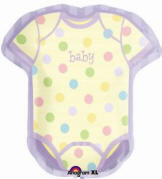 24 Welcome Baby Onesie Super Shape Balloon