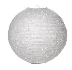12 White Lace-Look Chinese Paper Lantern