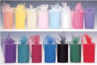 6 x 75 Feet Tulle Roll - 24 Colors