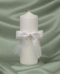 Pave Heart Unity Candle - White or Ivory