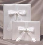 Pave Heart Wedding Album - White or Ivory
