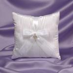 Pave Heart Ring Bearer Pillow - White or Ivory