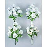 White Flower Bouquet - 4 Flower Choices!