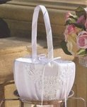 Pearled Corners Flower Girl Basket