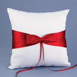 Red Lasting Radiance Ring Pillow