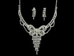 Radical Rhinestone Butterfly Necklace Set