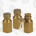 Gold Hexagon Bubble Bottles - Pkg 48