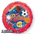 18 Happy Birthday Sports Mylar Balloon