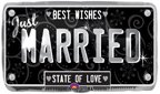 Just Married License Plate Design Mylar Balloon