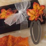 Fall Leaf Theme Bookmark Favor