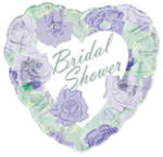 18 Lavender Roses Bridal Shower Heart Balloon