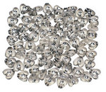 3-D Heart Dazzlers with Rhinestones - Pkg 72