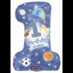 1st Birthday All Star Super Shape Mylar Balloon